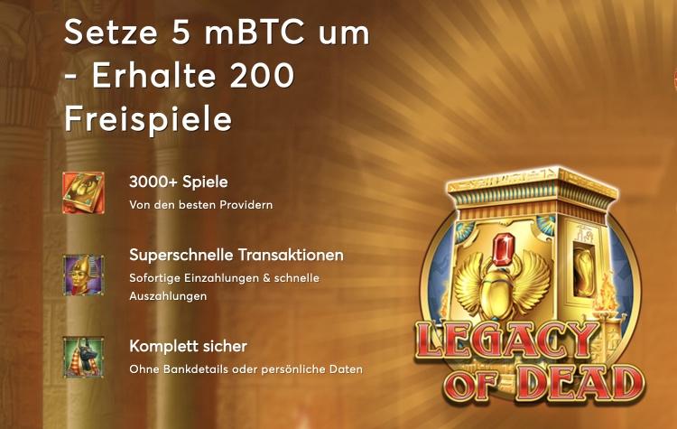 Bonus de bienvenue Bitcasino