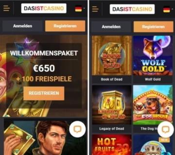 Application mobile DasisCasino