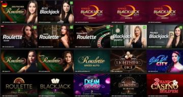 Sélection de casino en direct EnergyCasino