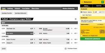 Offre de paris sur le football Interwetten