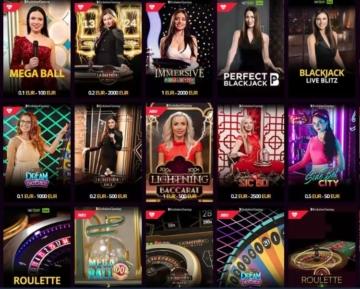 Casino en direct LV Bet