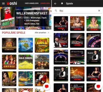application de casino oshi