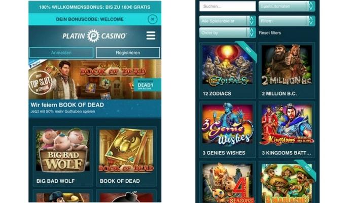 Platincasino App: Nous avons également eu de bonnes expériences mobiles avec ce fournisseur de casino
