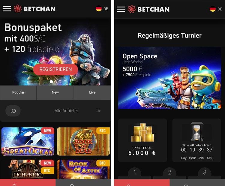 application mobile de casino betchan