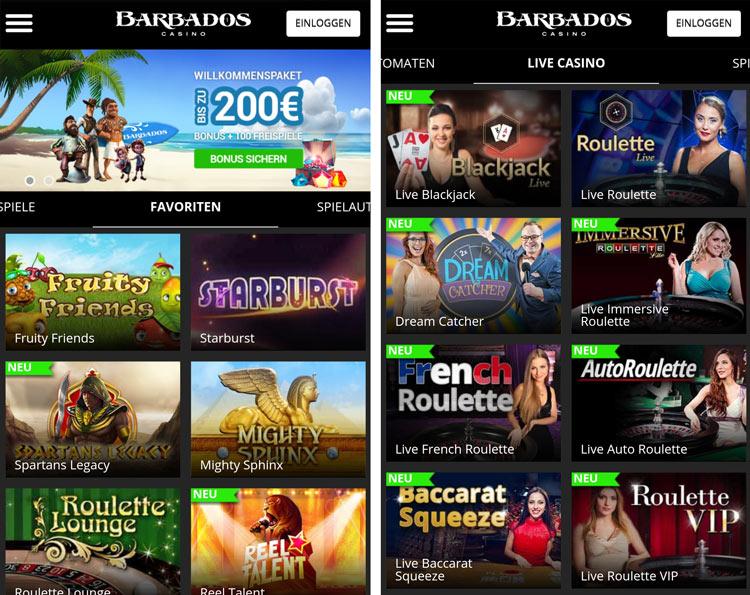 application de casino de la barbade