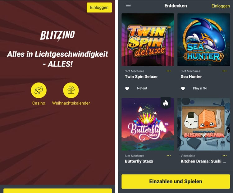 application de casino blitzino