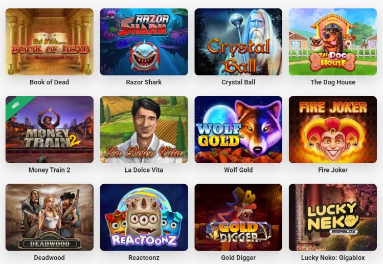Grand choix de jeux chez LeoVegas