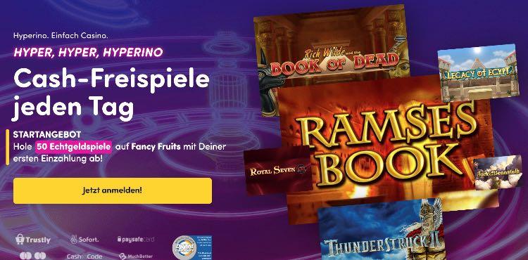 Bonus de bienvenue du casino Hyperino