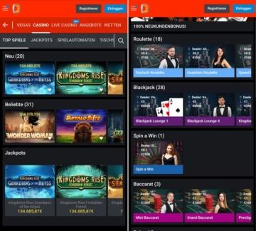 application de casino betano
