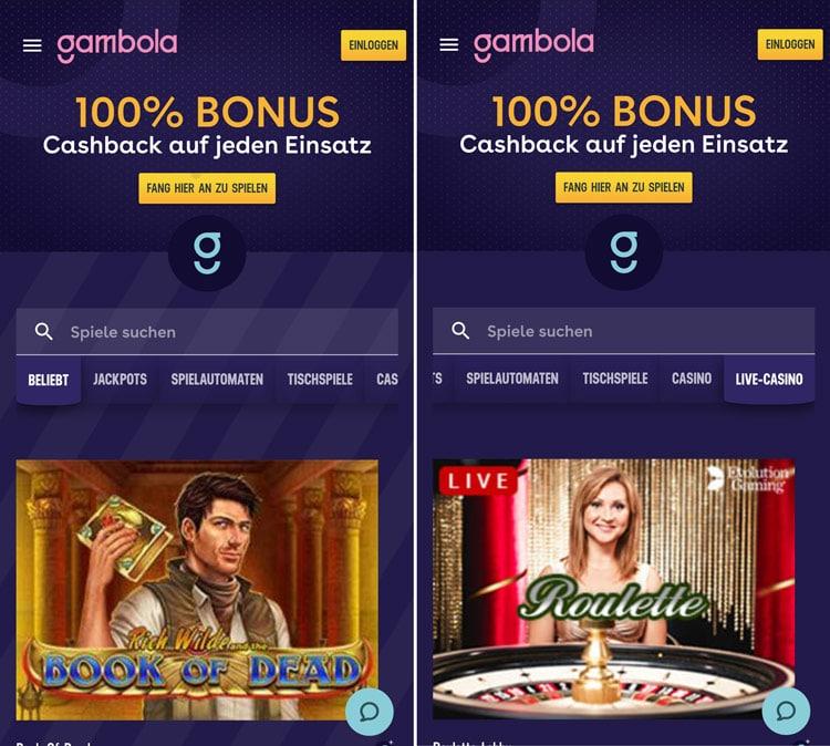 application de casino gambola