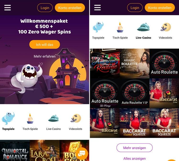 application de casino boo