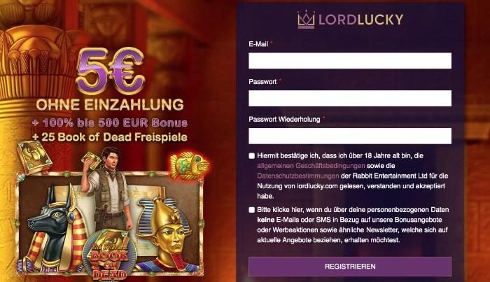 Bonus d'expérience Lord Lucky Casino