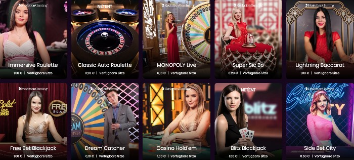 Boom Casino Live Dealer: grand choix de tables