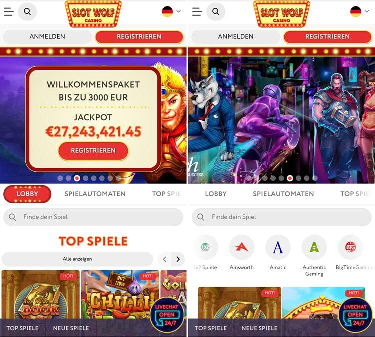 SlotWolf Casino App moderne et sûr