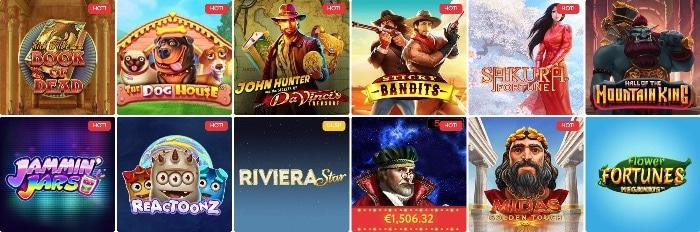 Offre de jeux de casino SlotWolf
