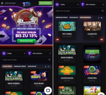 Application de casino 7 bits