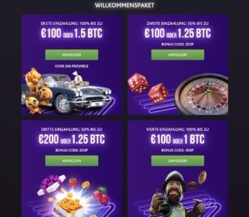 Expériences de casino 7bit: le package de bienvenue s'étend sur les quatre premiers dépôts