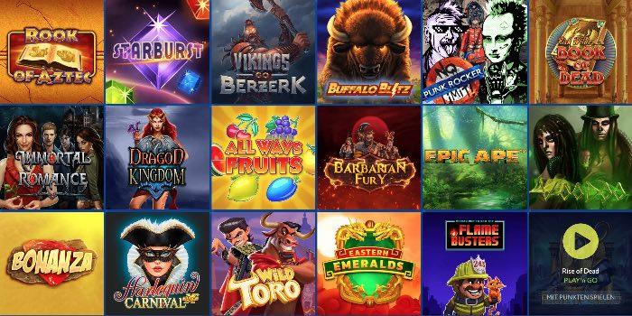 Offre de jeux Euslot Casino