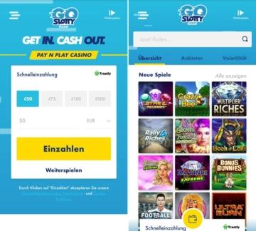 Application de casino GoSlotty