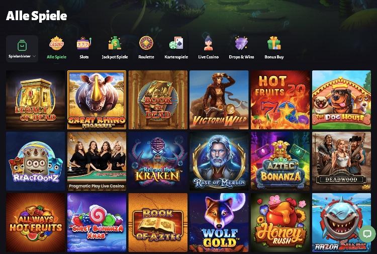 Le casino SlotHunter propose une vaste gamme de jeux de divers fournisseurs