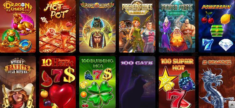 Jackpots du casino AmunRa