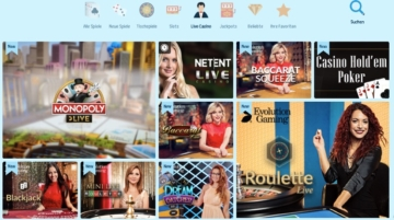 Evolution Gaming, NetEnt et Betgame fournissent CrazePlay Live Casino.