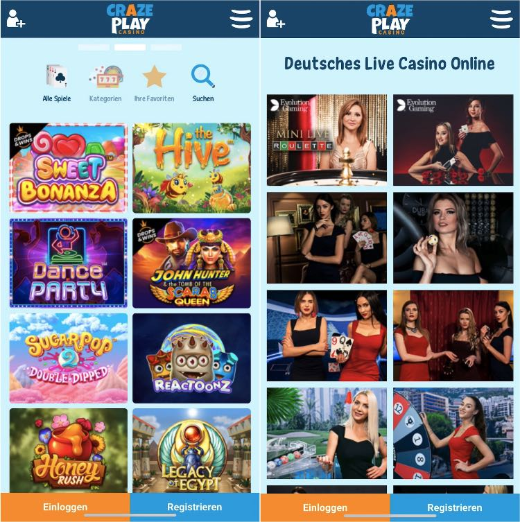 L'application CrazePlay Casino convainc par sa rapidité