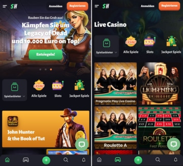Application SlotHunter Casino: claire et rapide