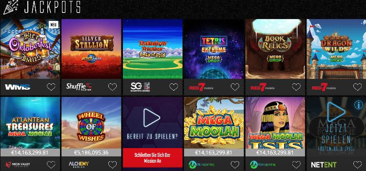 Jackpots de Captain Spins Casino