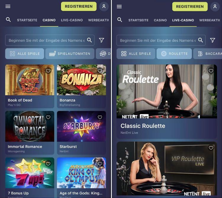 Application de casino Casinoin