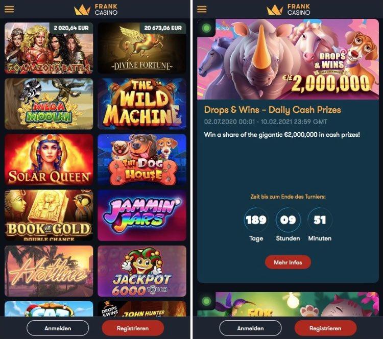 Application Frank Casino