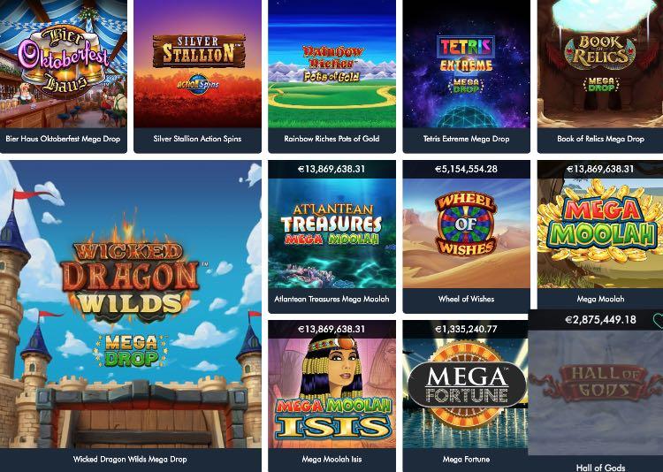 Jackpots du casino Jonny Jackpot