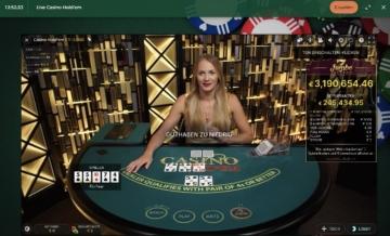 Mr Green Live Casino Hold Em avec jackpot