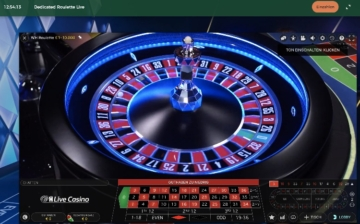Roulette du casino en direct Mr Green