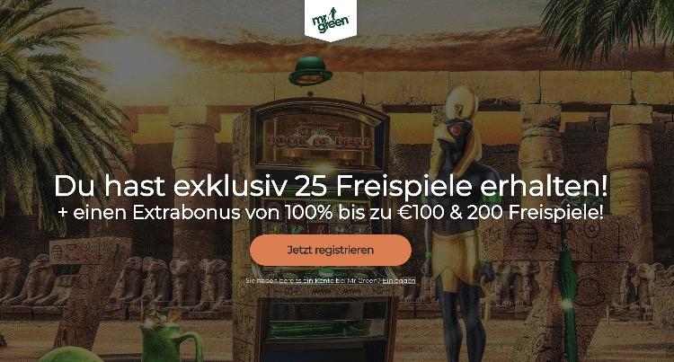 Bonus exclusif de Mr Green Casino