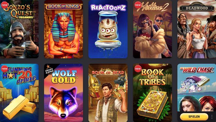 Sélection de jeux de casino FEZBet