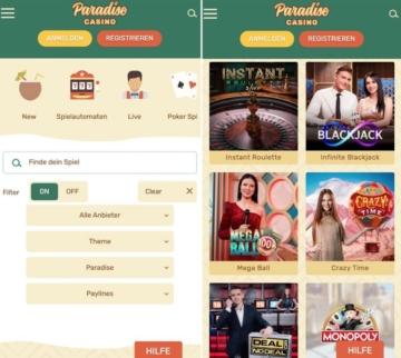 Application Paradise Casino