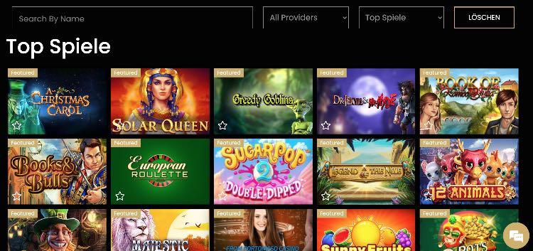gamme de jeux casinoempire