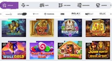 Jeux populaires sur Allreels Casino