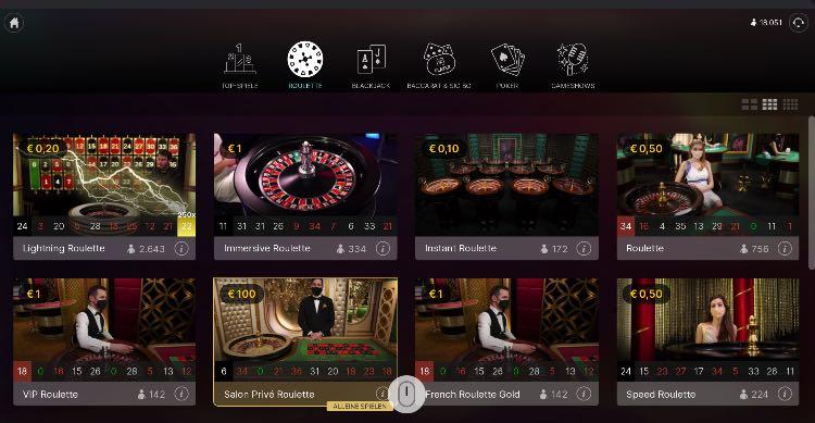 Roulette de casino en direct
