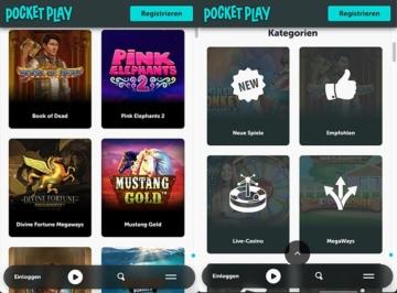 Casino mobile de jeu de poche