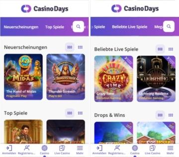 Casino Days mobile