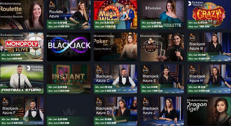 Monopole de casino en direct