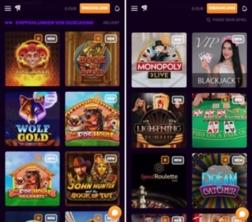 Dux Casino Mobile
