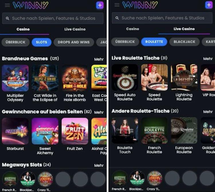 Application Winny Casino