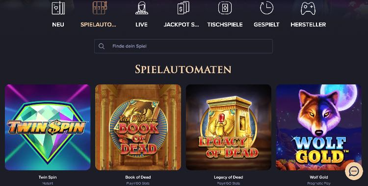 Offre de jeux CasinoRex