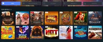 Sélection de jeux de casino Megaslot
