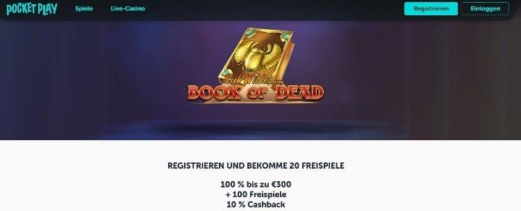 Bonus de Pocket Play Casino
